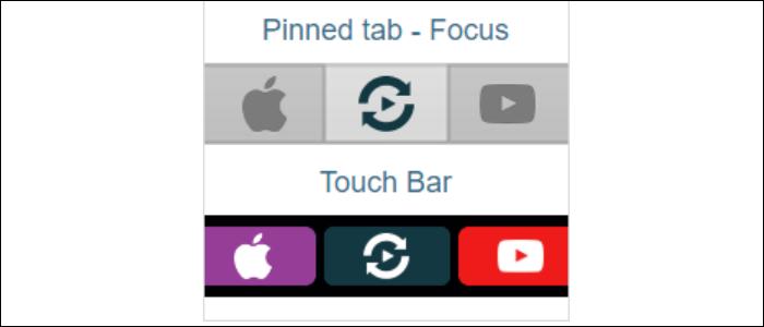 pinned tab focus touch bar