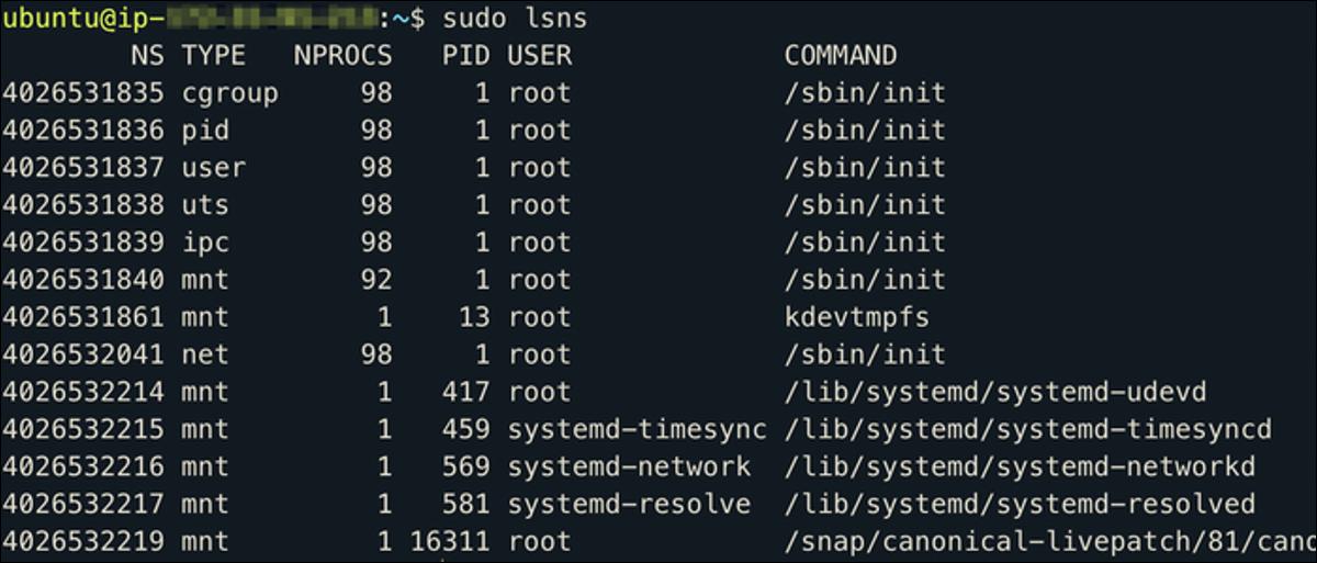 Linux namespaces