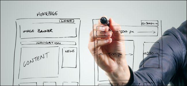 Man building a website frame.