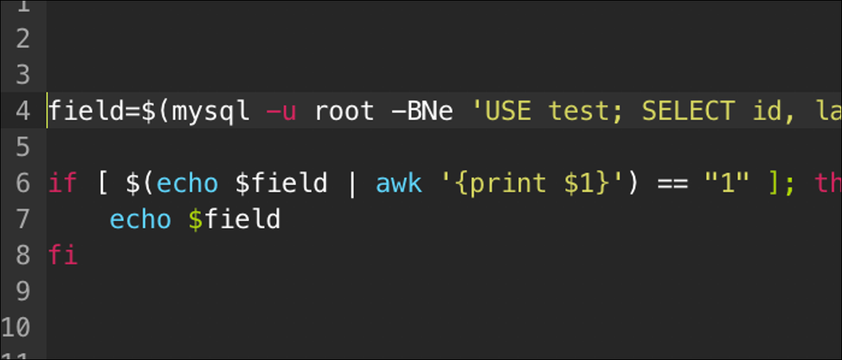 Make bash scripts run differently based on contents of a MySQL database by connecting to it from command line and passing a query.