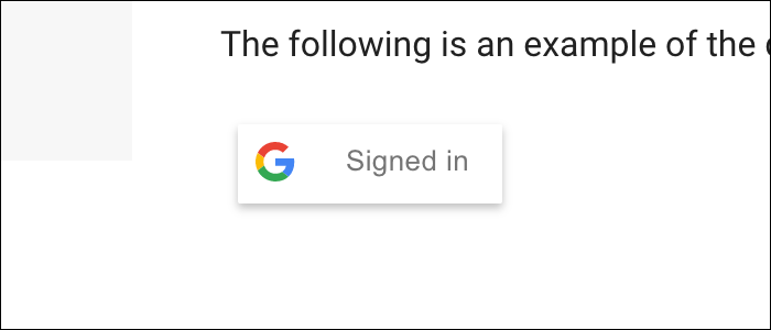 Implement sign-in button yourself, or use a prebuilt one.