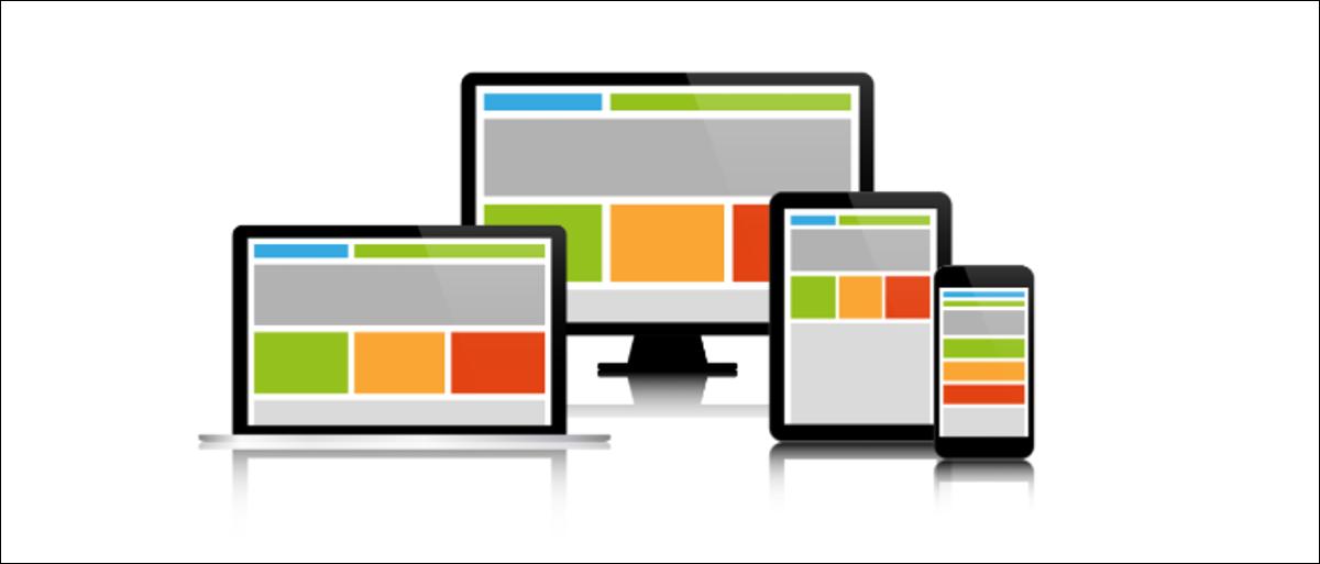 Responsive web design on modern electronics