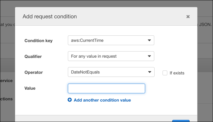 """Click """"Add Condition"""" to specify extended conditions that the request must meet before being approved."""