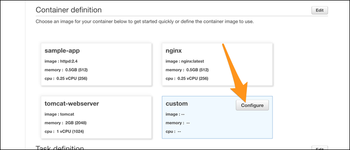 Customizing image type.
