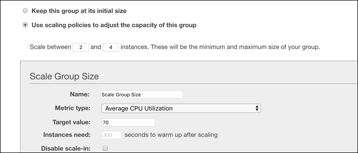 Configure your scaling policies