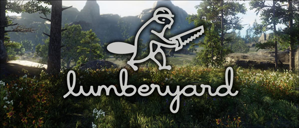 AWS lumberyard logo over lumberyard game