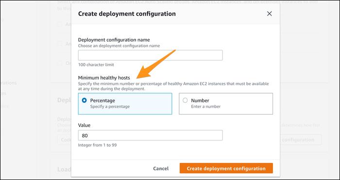 create new deployment configuration