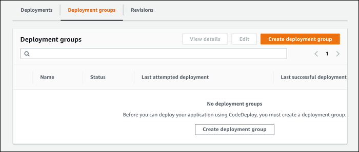 create a deployment group