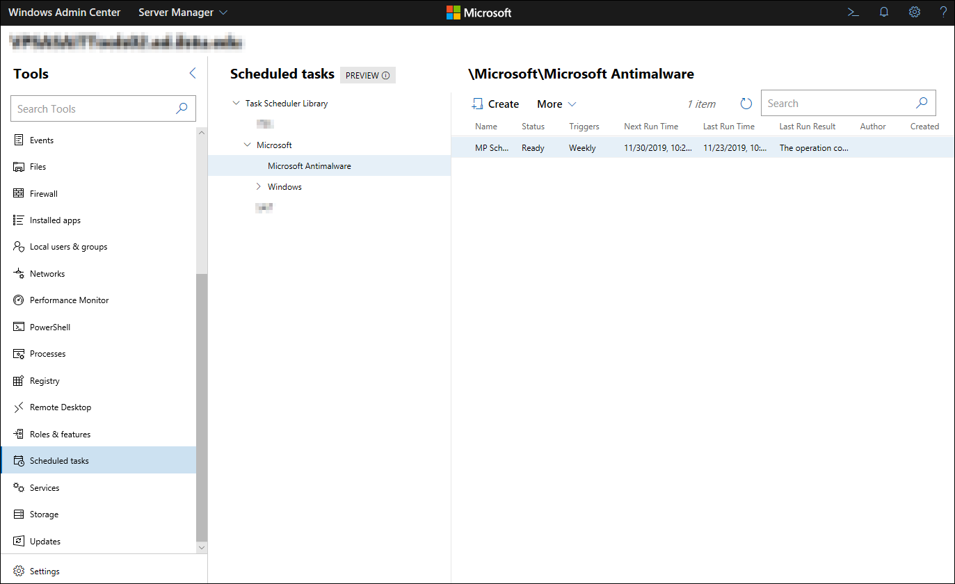 Managing Window-scheduled takes remotely.