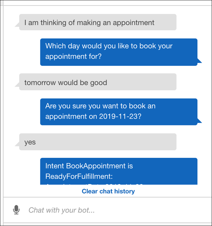AWS Lex chatbot testing