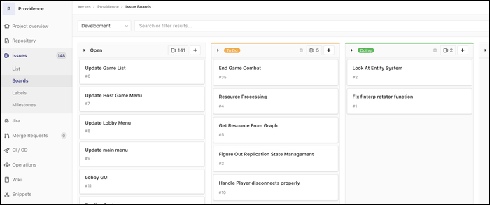 Primary organizational tool used by Gitlab issue: Kanban boards.