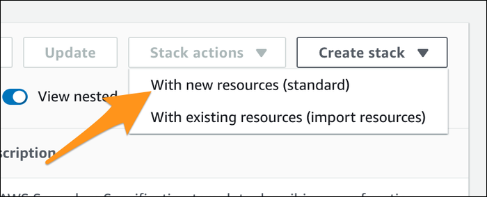 create new stack