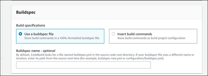 buildspec file