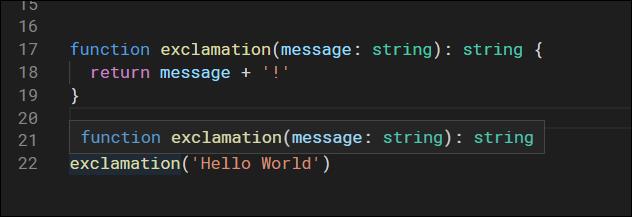 typescript hello world