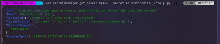 get-secret-value output