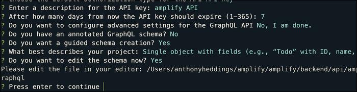 amplify graphql schema