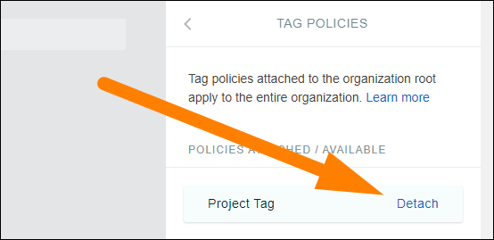 attach tag policy