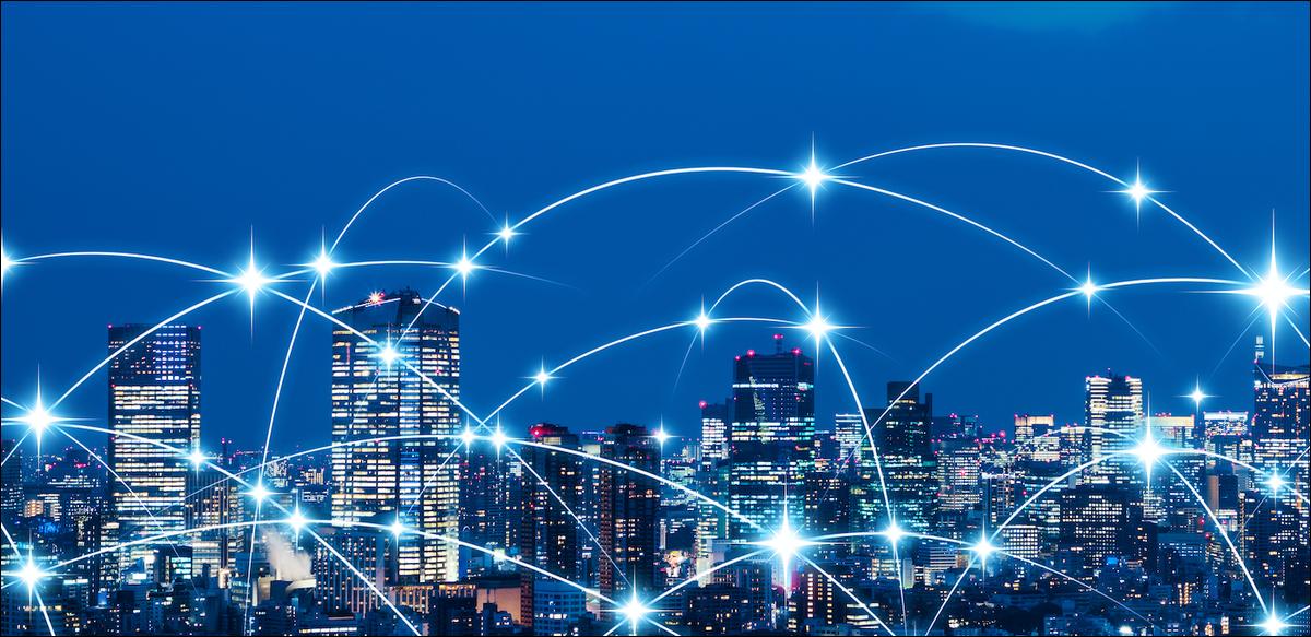 city network illustration