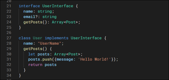 Interfaces define custom structures to use as types