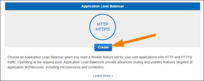 select application load balancer