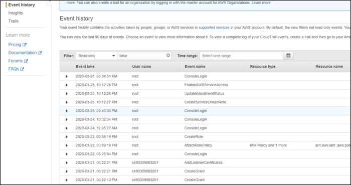 cloudtrail event log