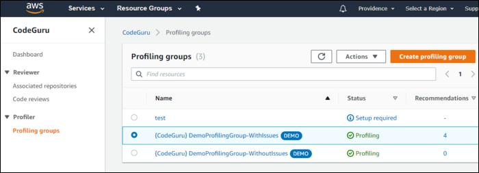 profiling groups