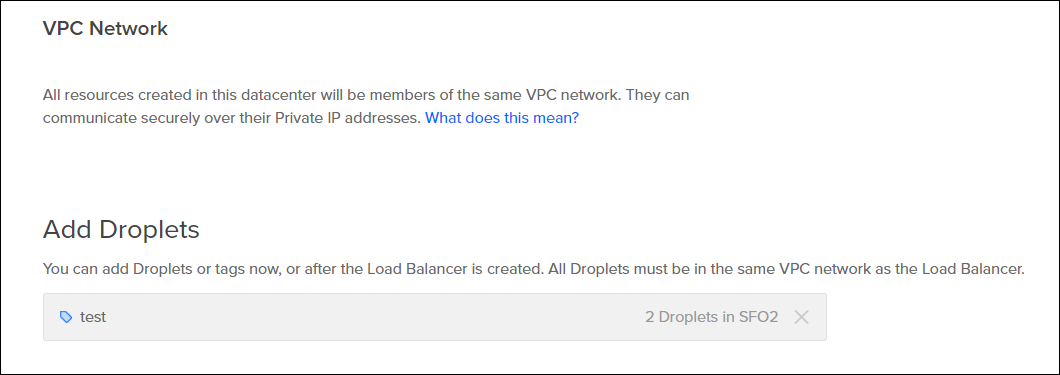 Define resources to add to load balancer