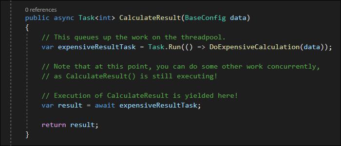 Run and await tasks inside other Tasks