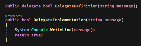 An implementation with code.
