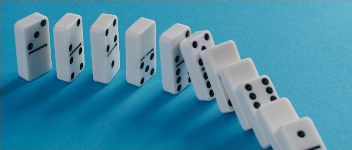 Domino effect.