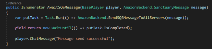 To await a task from UI thread, start with Task.Run, then check regularly to see if task has completed.