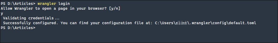 Wrangler login feature