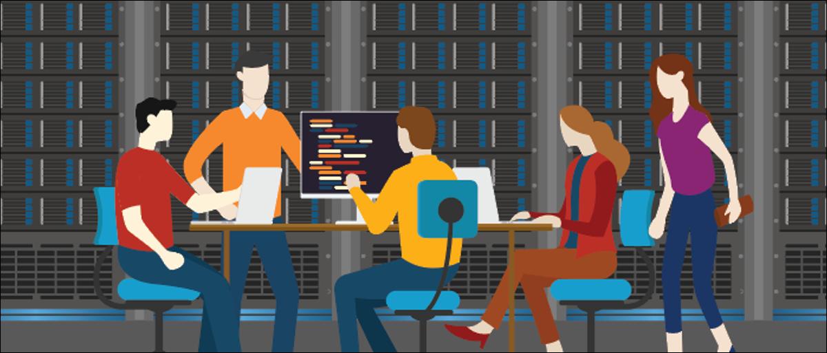Database server team monitoring maintenance
