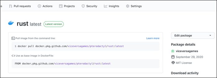 GitHub Container Registry.