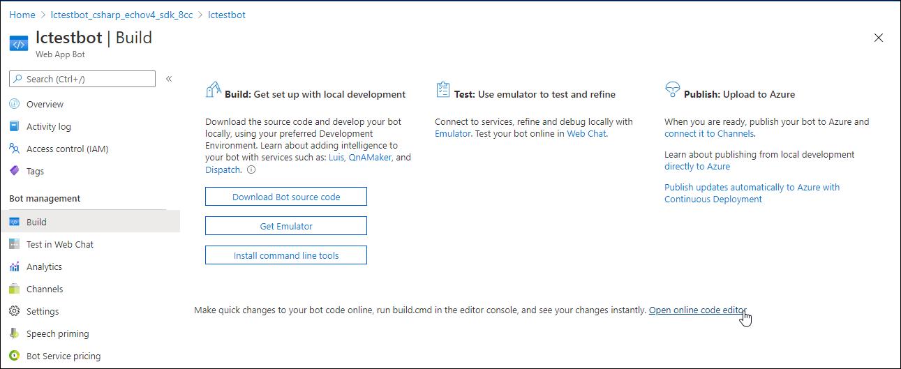 App Service Editor where you modify and rerun code