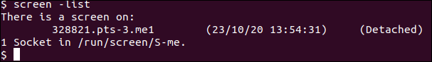 GNU Screen list