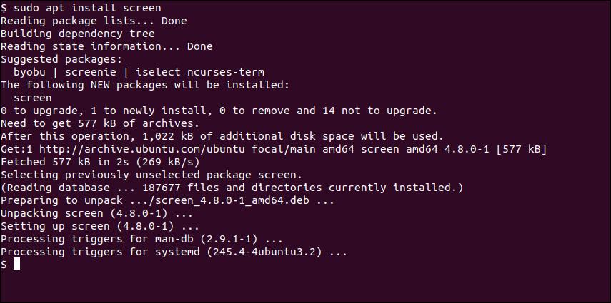 Installing GNU Screen