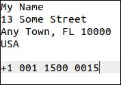 Address output generated by Autokey