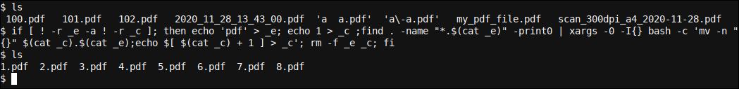 Bulk Rename Files to Numeric File Names in Linux