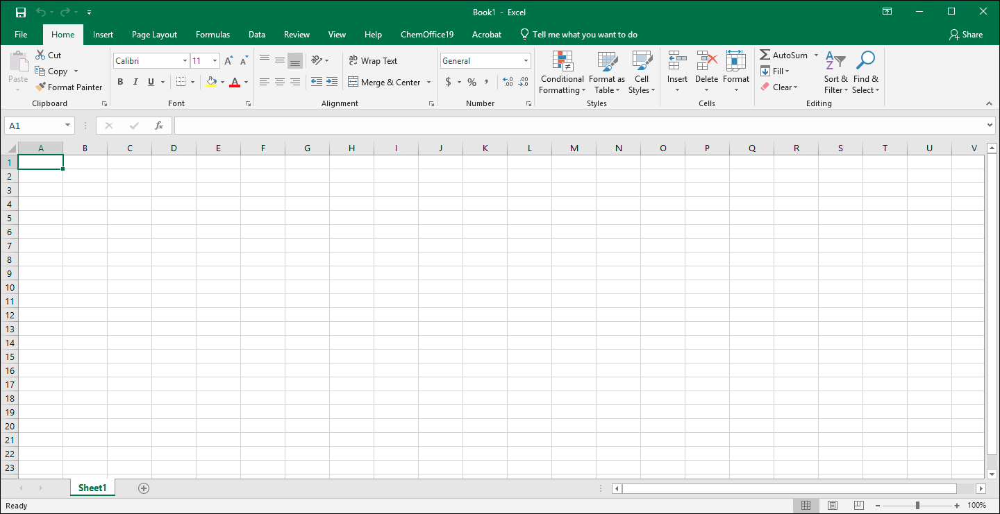 Microsoft Excel for Windows