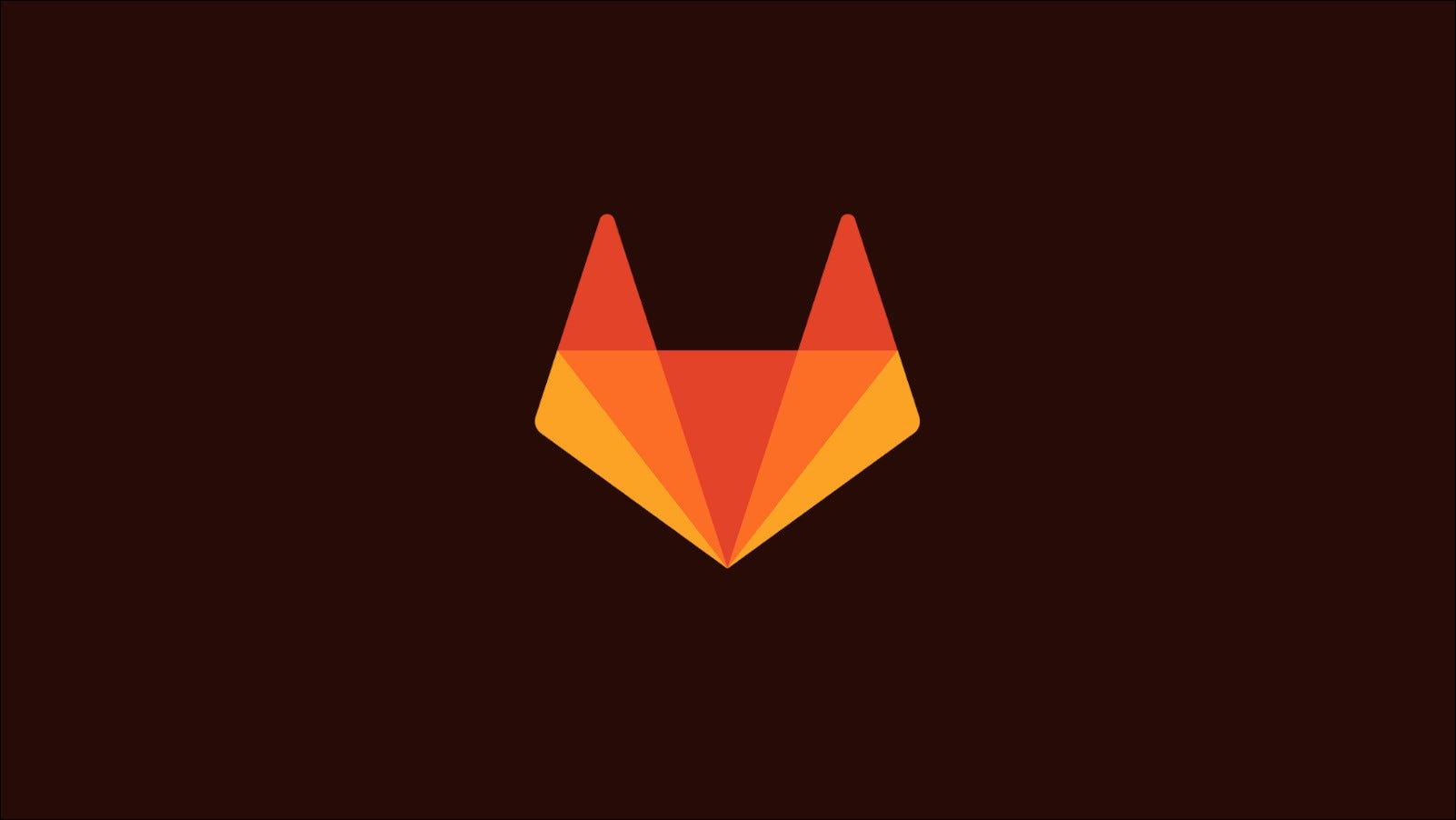 A GitLab logót ábrázoló grafika, egy stilizált rókafej