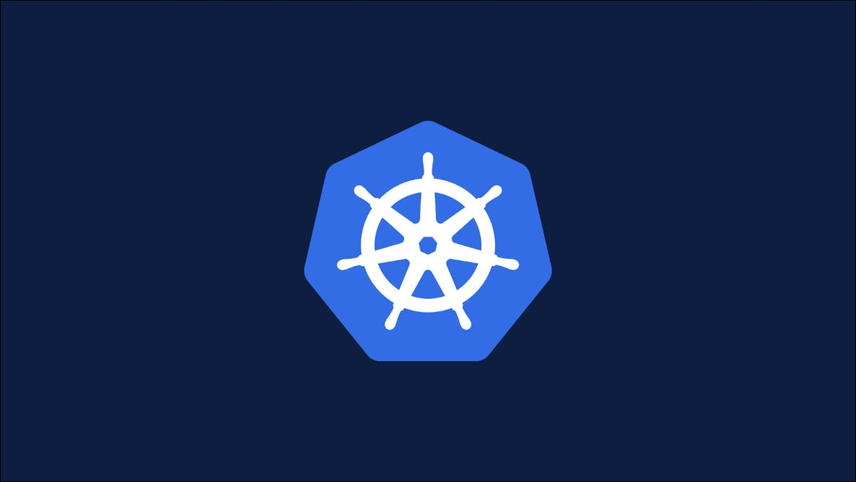 Graphic showing the Kubernetes logo