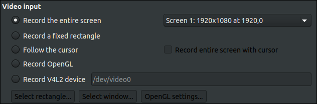 Video input selection in SSR