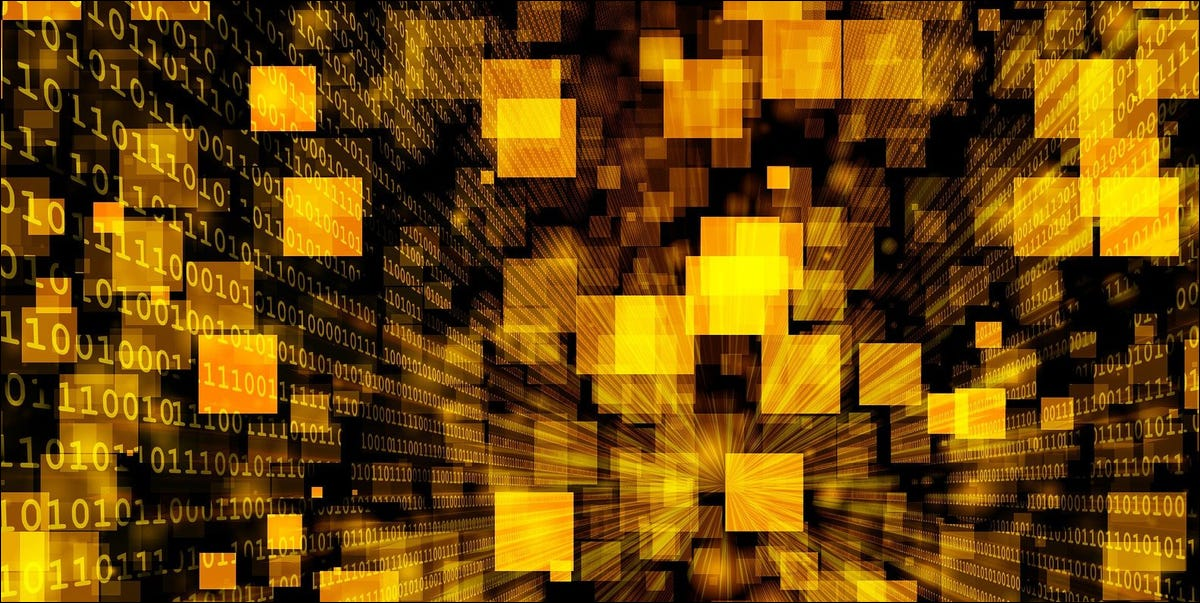 Abstract image showing expanding yellow rectangles