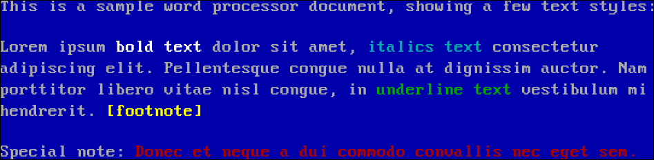 White text on a blue background
