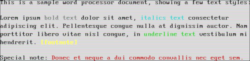 Black text on a white background (VGA)