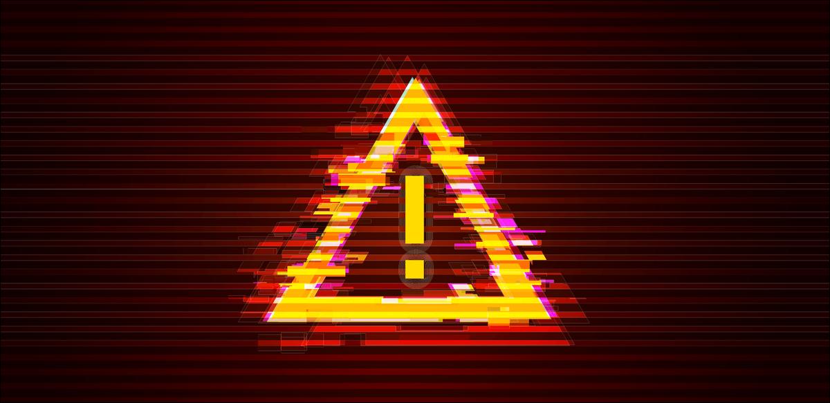 Glitch danger symbol