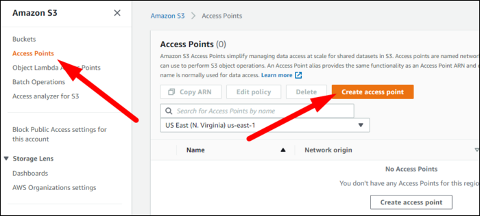 Each Object Lambda Access Point needs a regular access point behind it. You'll need to create this from Access Points > Create in the sidebar.