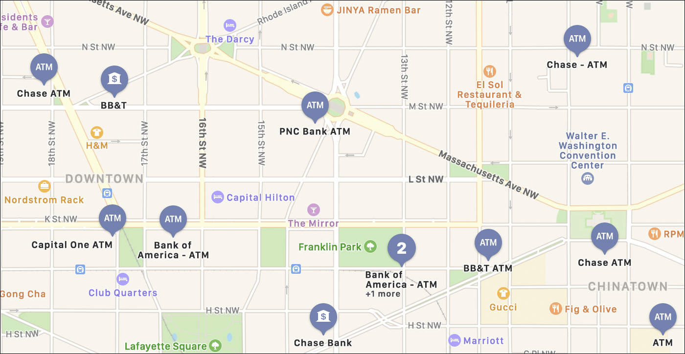 atm locations on map