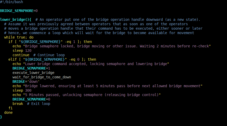 A semaphore implementation in Bash